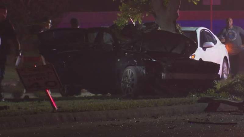 One person is dead following a crash in southwest Harris County.