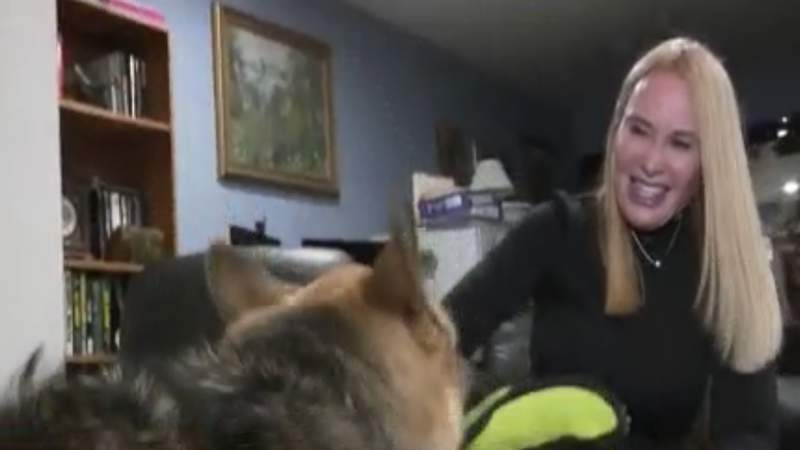 Dog reunited with out after being found in Oklahoma City