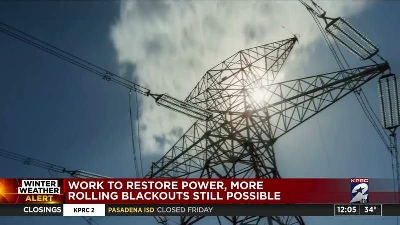 Work to restore power, more rolling blackouts still possible