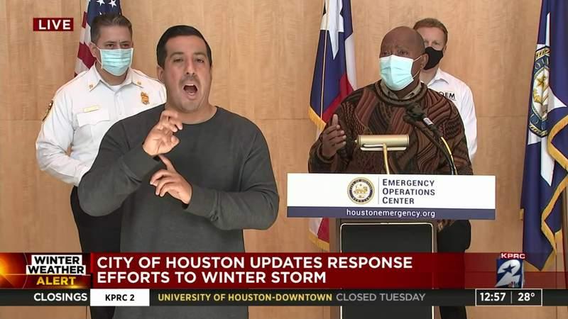Mayor Turner provides update on winter storm