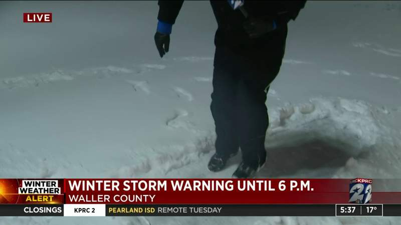 Winter warning until 6 p.m. includes Waller County