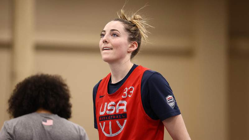 Katie Lou Samuelson will not compete at the Tokyo Olympics after testing positive for COVID-19.