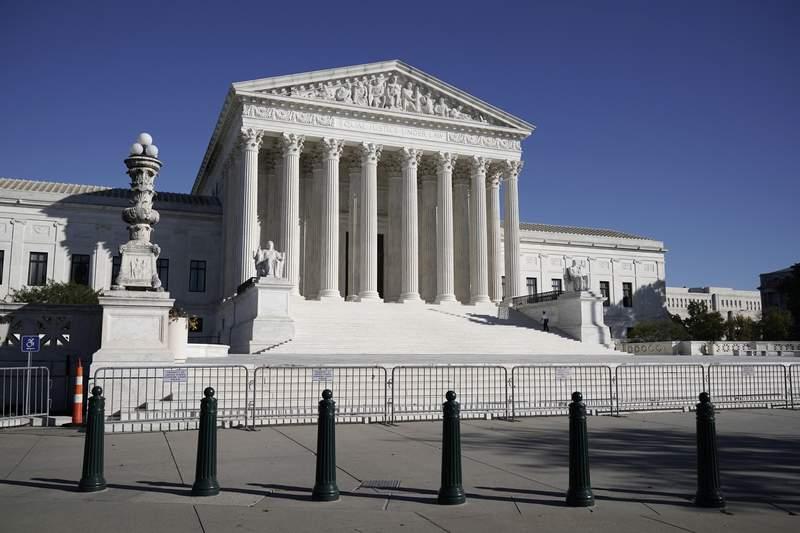 FILE - In this Nov. 4, 2020 photo, The Supreme Court in Washington. (AP Photo/J. Scott Applewhite)