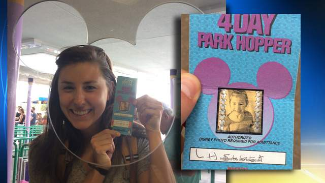 Chelsea Herline uses decades old ticket at Walt Disney World (Upworthy.com)