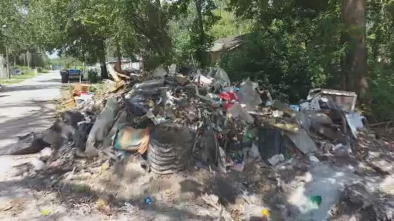 Acres Home lined with trash and rodents