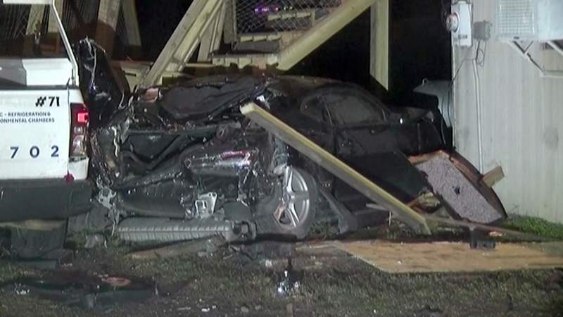 Teen killed when car slams into New Caney home