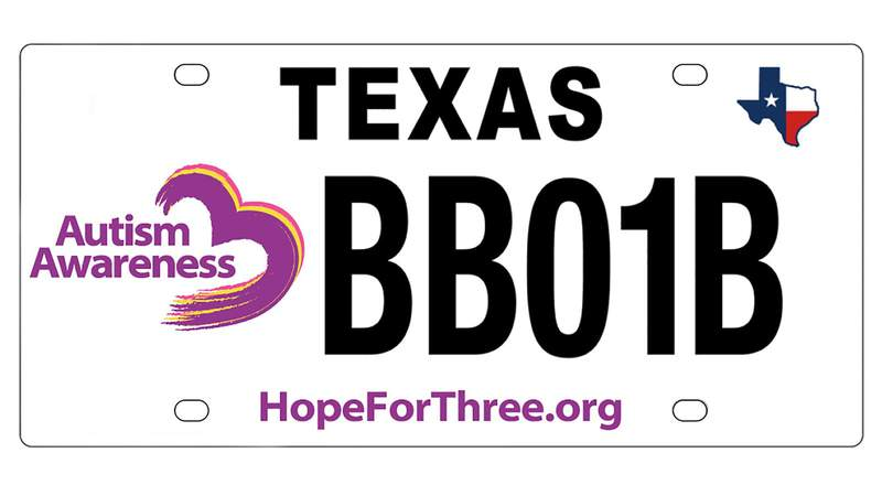 Autism Awareness Specialty license plate