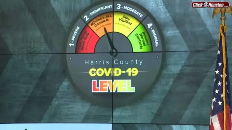 Judge Hidalgo lowers COVID-19 threat level in Harris County