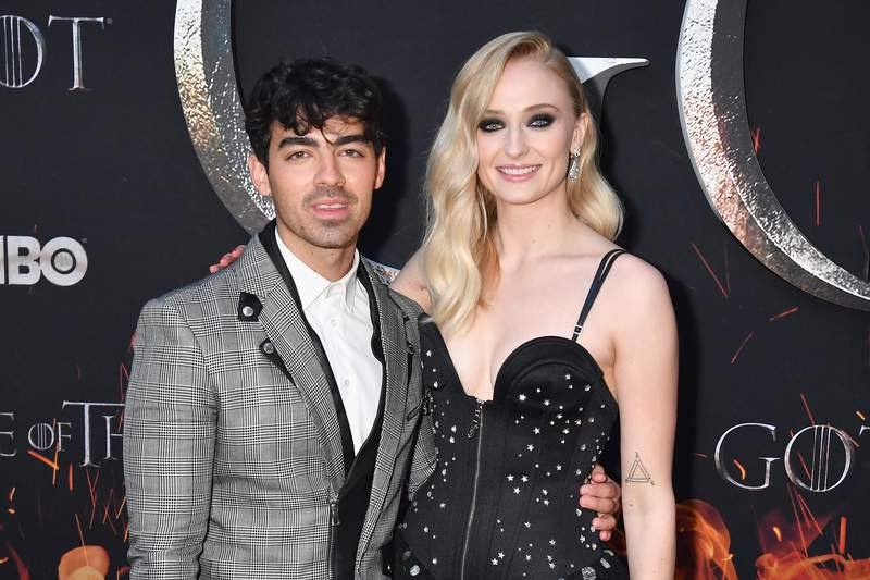 """Joe Jonas and Sophie Turner attend the """"Game Of Thrones"""" Season 8 NY Premiere on April 3, 2019 in New York City. (Photo by Jeff Kravitz/FilmMagic for HBO)"""
