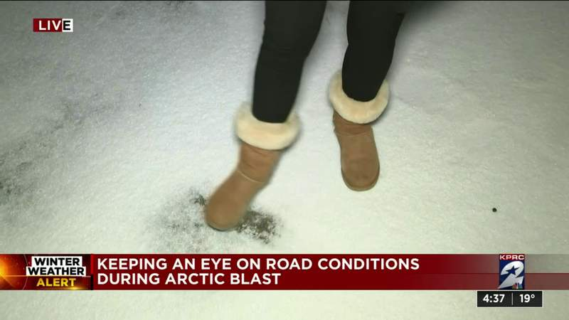 Keeping an eye on road conditions during arctic blast