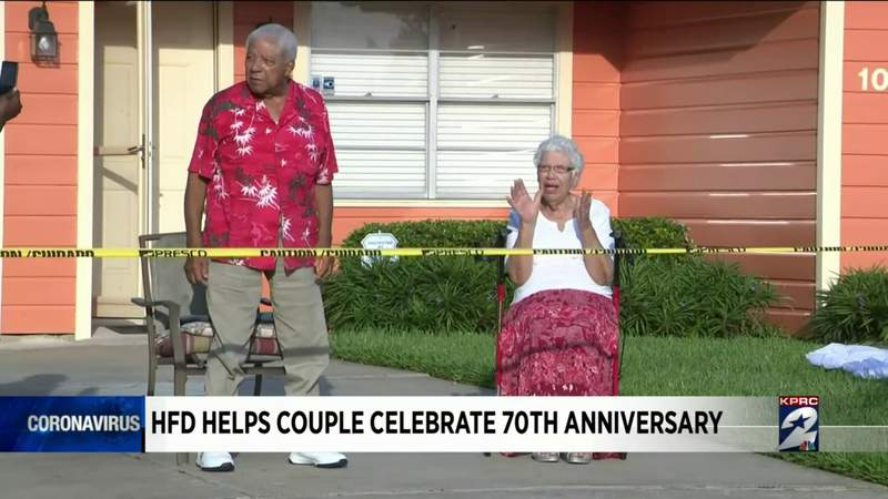 HPD helps couple celebrate 70th anniversary