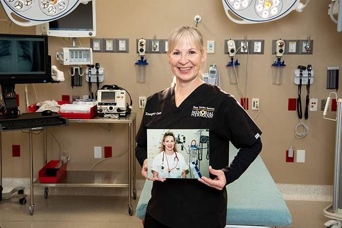 Beth, an emergency nurse at Memorial Hermann-Texas Medical Center.