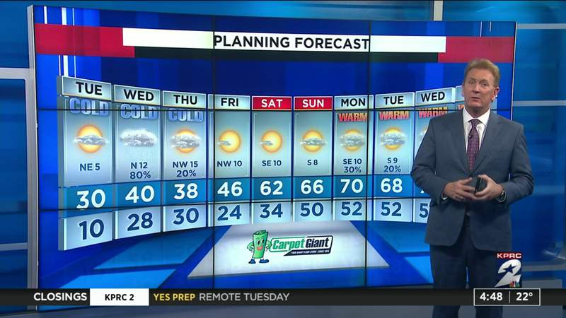 Chief Meteorologist give winter weather update at 4:50 p.m.