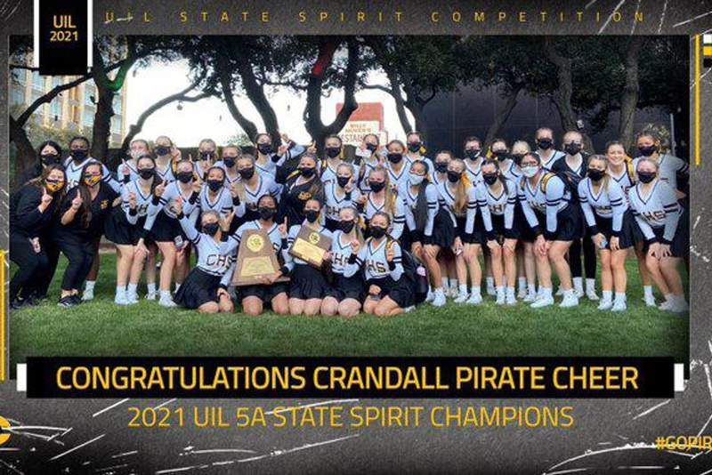 Crandall Cheer wins third state title in four years