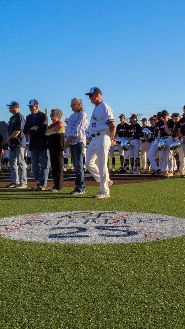 Through the Lens: Concordia Lutheran retires late Coach Rick Lynch's No. 25, renames field