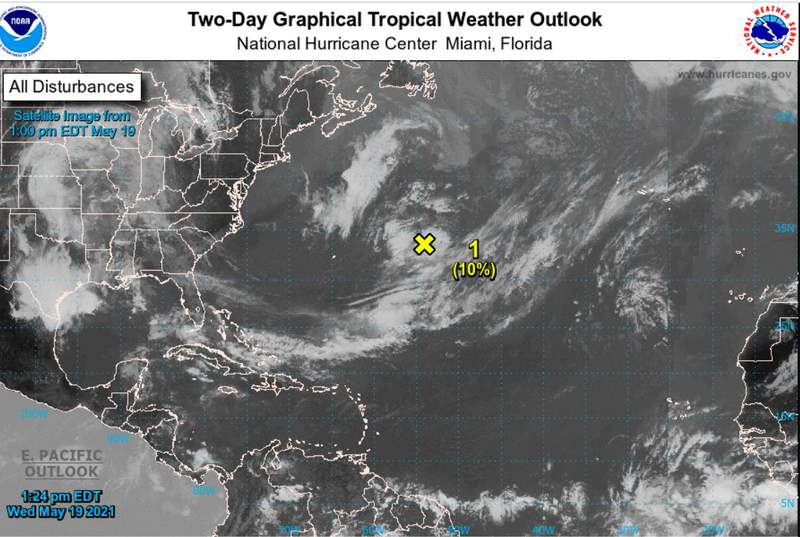NHC Forecasters are already eyeing that yellow X!