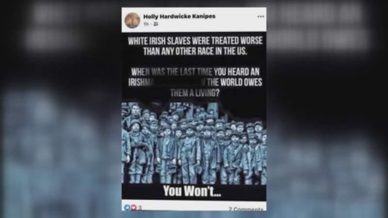 Controversy over teacher's post