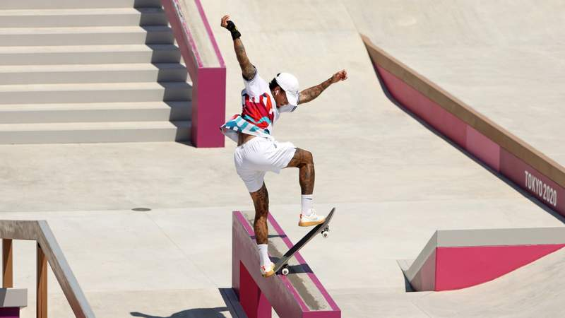 Nyjah Huston in the Preliminary Round