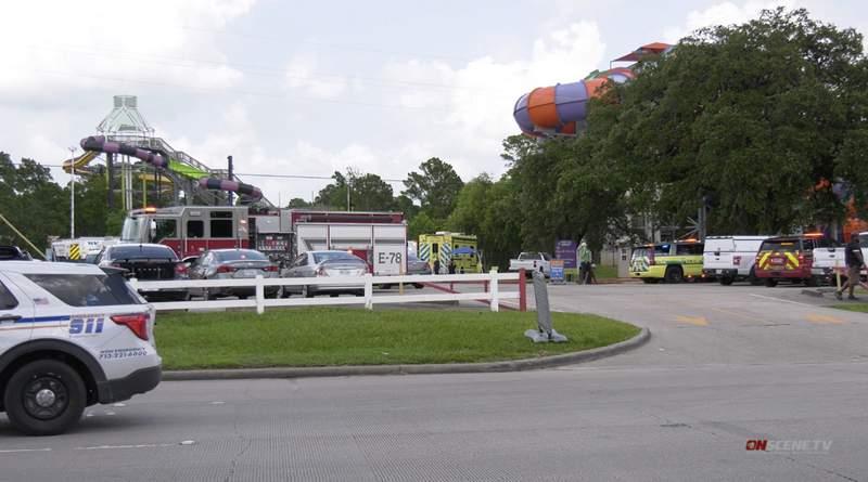 Six Flags Hurricane Harbor Splashtown in Spring on July 17, 2021.