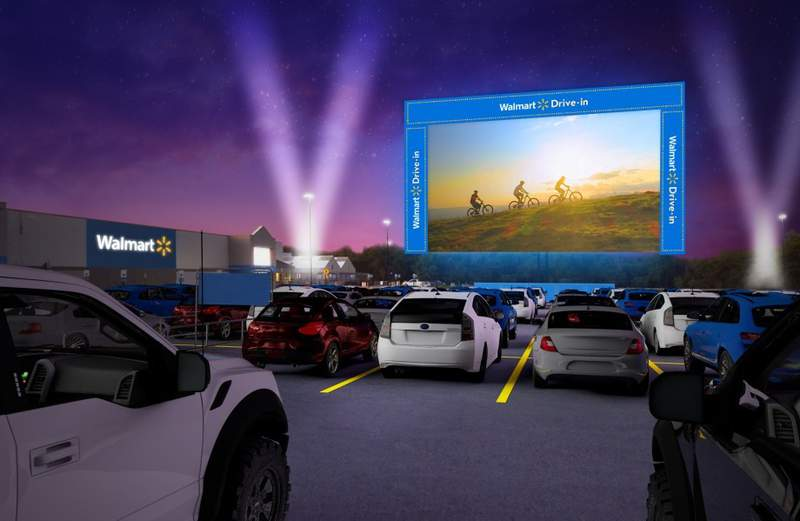 Walmart Drive-In will make a stop at La Marque Tuesday and Wednesday