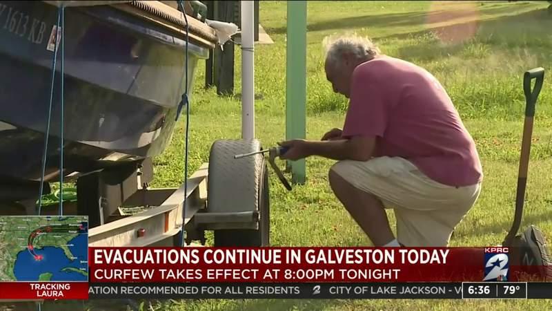 Evacuations continue in Galveston County