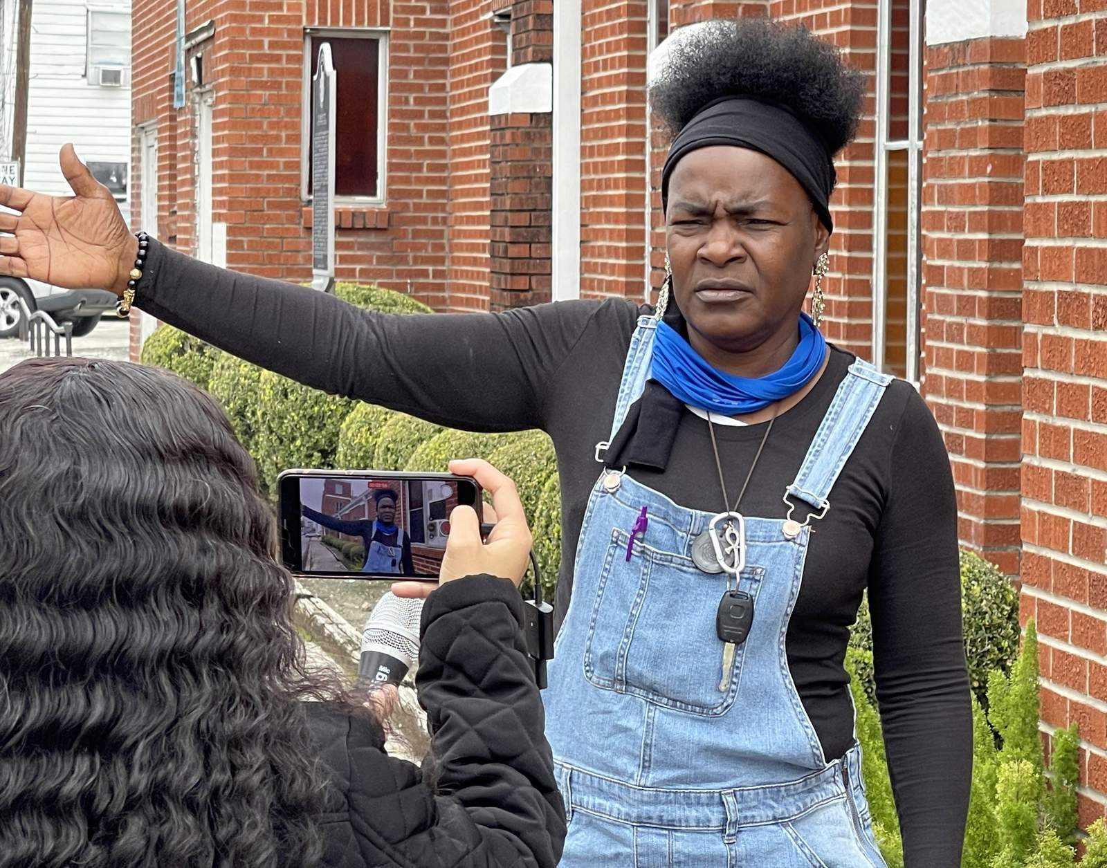 Gladys House talks about her efforts to preserve Freedmen's Town.