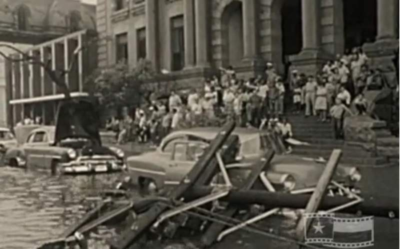 """Scene from the aftermath of Hurricane Carla from KPRC's short documentary """"CARLA"""""""