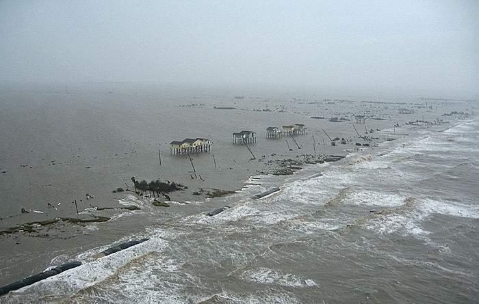Hurricane Ike's storm surge in Bolivar. (Courtesy: Larry Skiles)