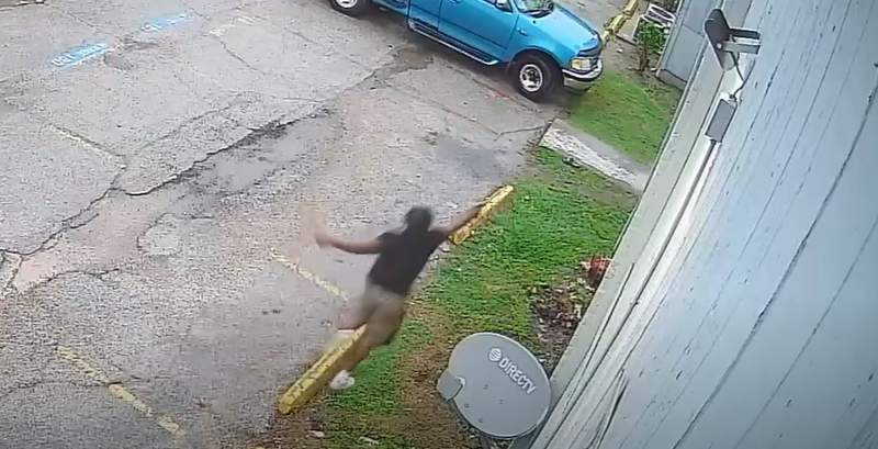 A still image from a confrontation at a west Houston apartment complex on April 23, 2021.