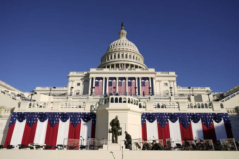 Inauguration Day for President-elect Joe Biden will look unlike anything the nation has seen before as the scars of COVID-19 and the Jan. 6 insurrection at the U.S. Capitol turn the West Front into a virtual ghost town compared to years past.