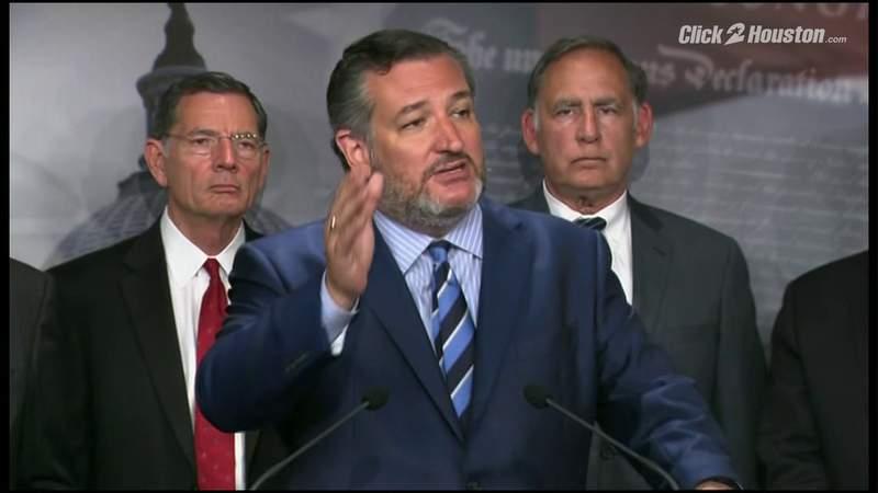 Republican senators discuss public health at the border