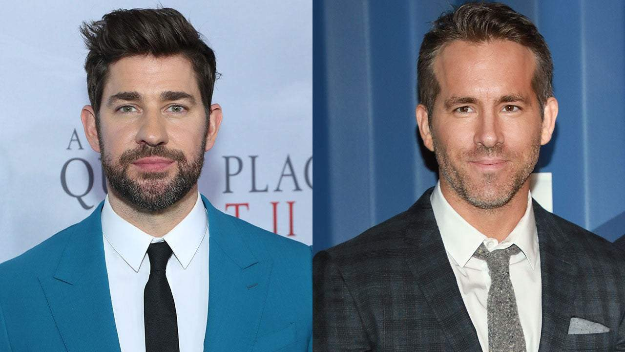 John Krasinski Says He And Ryan Reynolds Turned Into 14 Year Old Boys When They Posed With An Owl