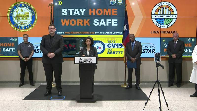 First day of stay home/work safe order in Harris County