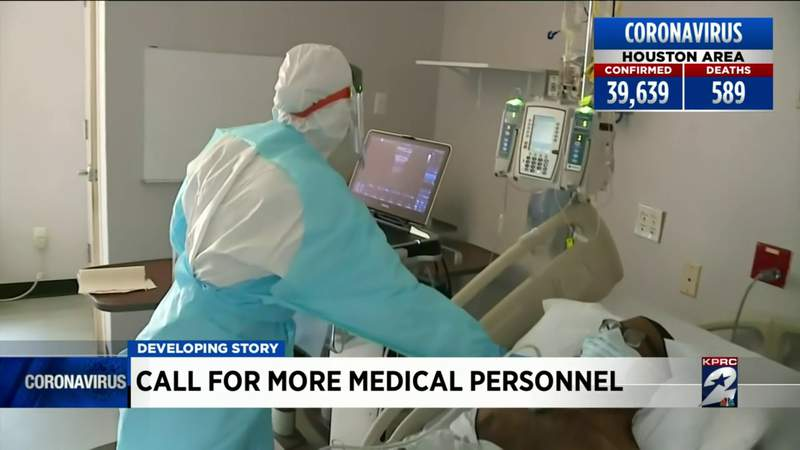 Call for more medical personnel