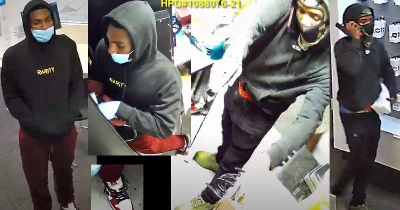 VIDEO: 2 men rob Willowbrook Mall cell phone store at gunpoint