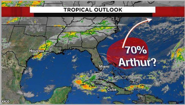 First Tropical Disturbance
