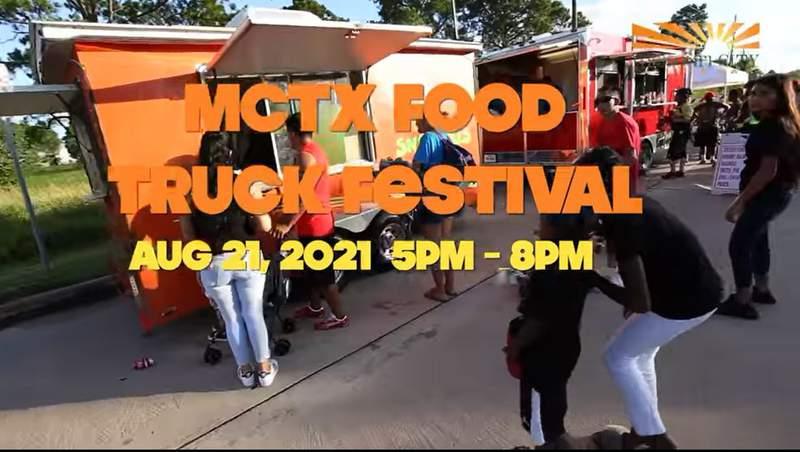 Screenshot promoting Missouri City's inaugural food truck festival this Saturday.