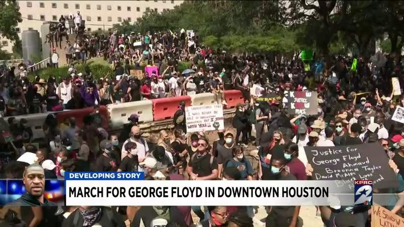 KPRC 2 team coverage following the George Floyd march in downtown Houston