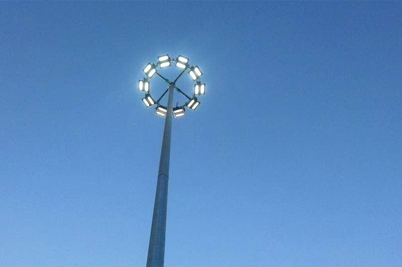 Stock image of a high-mast highway light