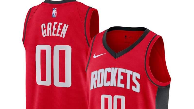 Jalen Green Houston Rockets jersey