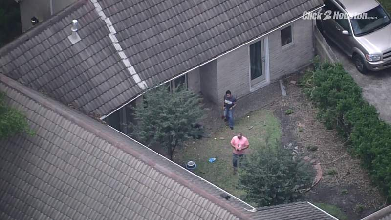 Sky 2 over house where tiger sighted