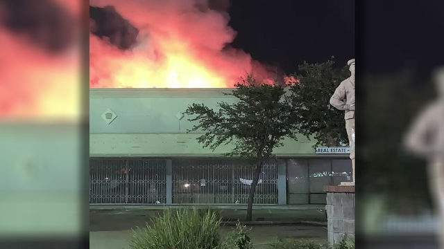 Firefighters had to battle an early morning blaze at a business in southwest Houston.