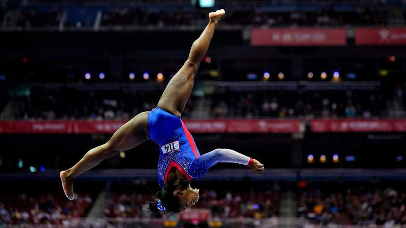Simone Biles, 24, qualified for her second Olympic team on Sunday night at U.S. Olympic Gymnastics Trials.