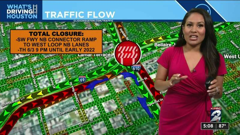How to navigate through the 59/610 ramp closure in Houston - advice from KPRC 2 Traffic Expert Anavid Reyes