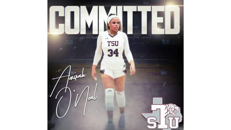 Amirah O'Neal committed to play basketball at Texas Southern University, according to a post on Instagram.