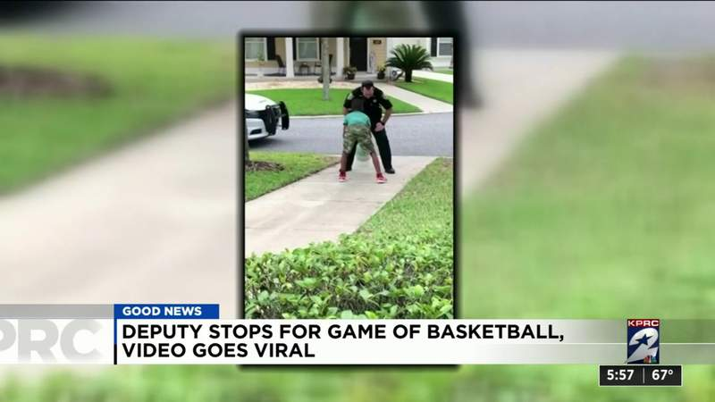 One Good Thing: Deputy stops for game of basketball, video goes viral