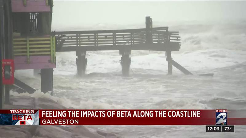 Portion of the 61 St. pier destroyed in Galveston