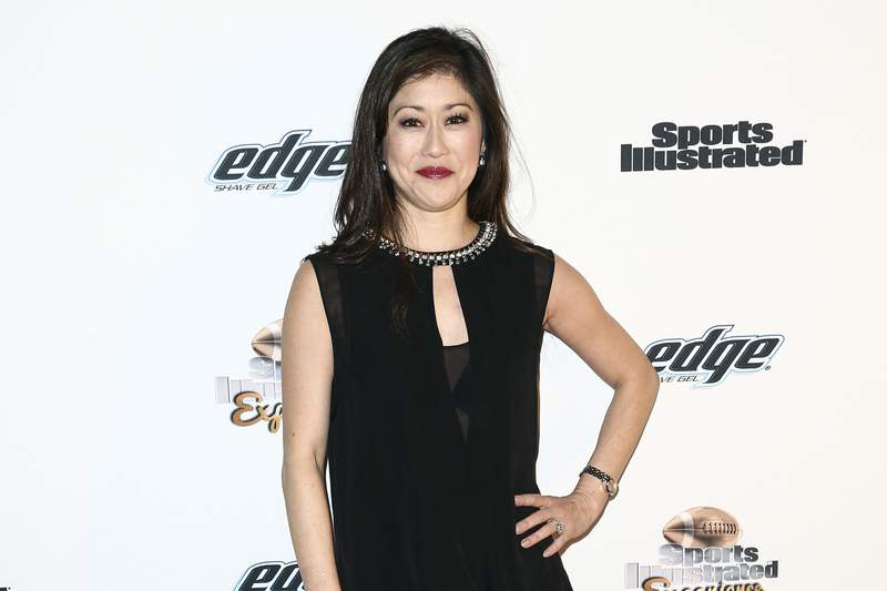 FILE - In this Feb. 5, 2016, file photo, Kristi Yamaguchi attends the Sports Illustrated Super Bowl Party held at 1015 Folsom in San Francisco. Unable to stage its annual major fundraiser due to the coronavirus pandemic, Figure Skating in Harlem is going from the ice to the internet.The Figure Skating in Harlem Champions in Life Virtual Gala will be held on May 14 and will feature Olympics champions Scott Hamilton, Kristi Yamaguchi and Meryl Davis. (Photo by John Salangsang/Invision/AP, FIle)
