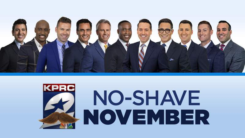No-Shave November 2020 featuring the men of KPRC 2