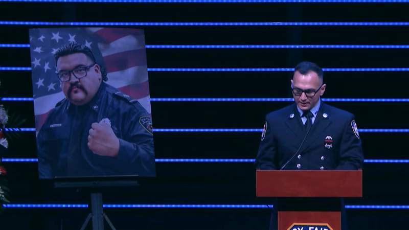 Funeral held for firefighter Hugo Guevara, who died of COVID-19